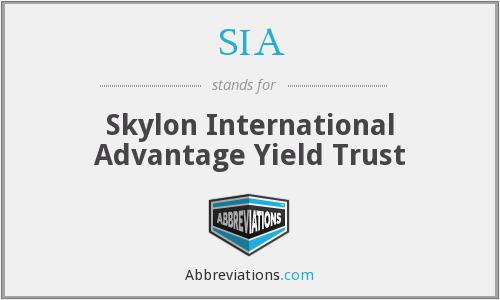 SIA - Skylon International Advantage Yield Trust