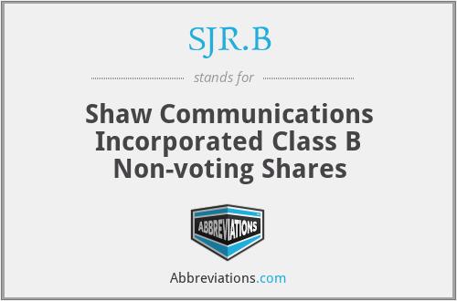 SJR - Shaw Communications Inc.