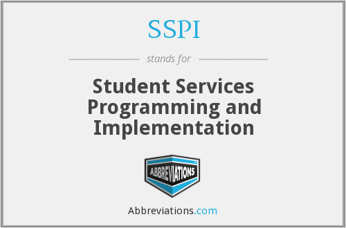 SSPI - Student Services Programming and Implementation
