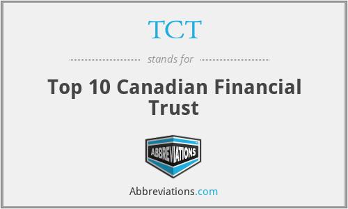 TCT - Top 10 Canadian Financial Trust