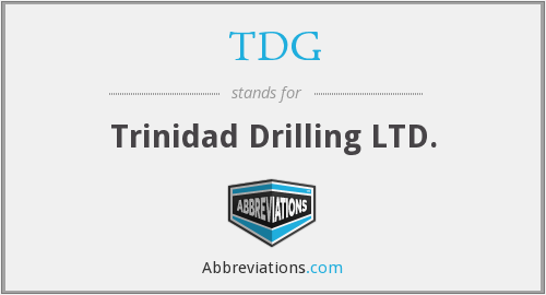 TDG - Trinidad Drilling LTD.
