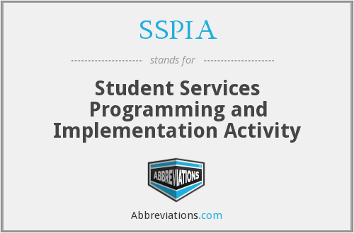 SSPIA - Student Services Programming and Implementation Activity