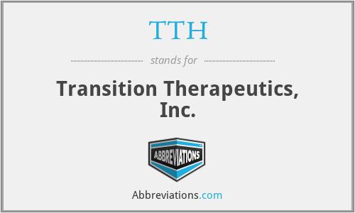 TTH - Transition Therapeutics, Inc.