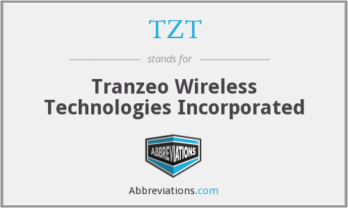 TZT - Tranzeo Wireless Technologies Incorporated