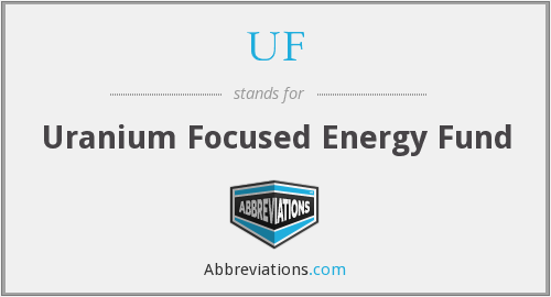 UF - Uranium Focused Energy Fund