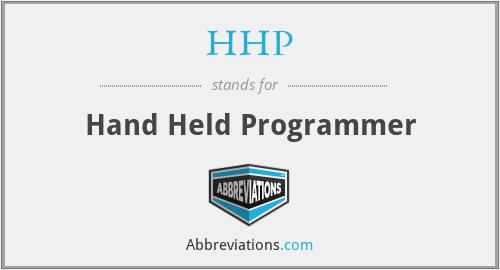 HHP - Hand Held Programmer