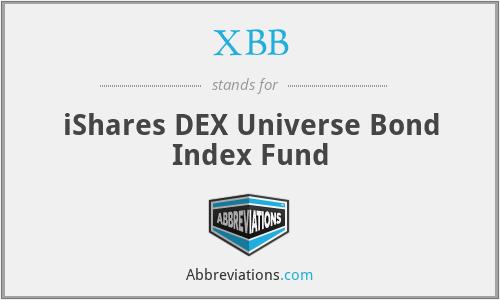 XBB - iShares DEX Universe Bond Index Fund