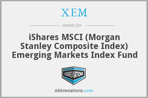 XEM - iShares MSCI (Morgan Stanley Composite Index) Emerging Markets Index Fund