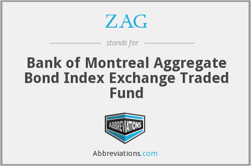 ZAG - Bank of Montreal Aggregate Bond Index Exchange Traded Fund