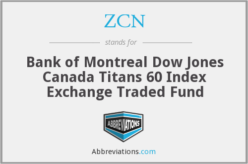 ZCN - Bank of Montreal Dow Jones Canada Titans 60 Index Exchange Traded Fund