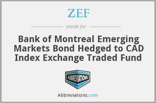 ZEF - Bank of Montreal Emerging Markets Bond Hedged to CAD Index Exchange Traded Fund