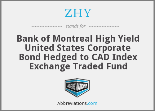 ZHY - Bank of Montreal High Yield United States Corporate Bond Hedged to CAD Index Exchange Traded Fund