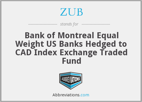 ZUB - Bank of Montreal Equal Weight US Banks Hedged to CAD Index Exchange Traded Fund
