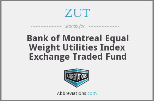ZUT - Bank of Montreal Equal Weight Utilities Index Exchange Traded Fund
