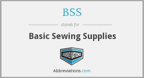 BSS - Basic Sewing Supplies