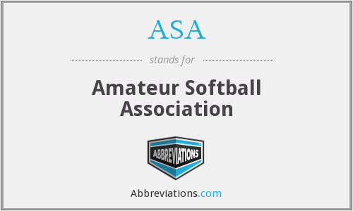 ASA - Amateur Softball Association