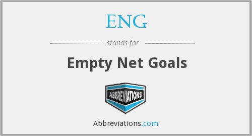 ENG - Empty Net Goals