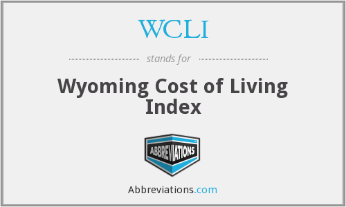 WCLI - Wyoming Cost of Living Index
