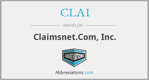 CLAI - Claimsnet.Com, Inc.