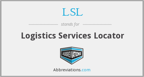 LSL - Logistics Services Locator