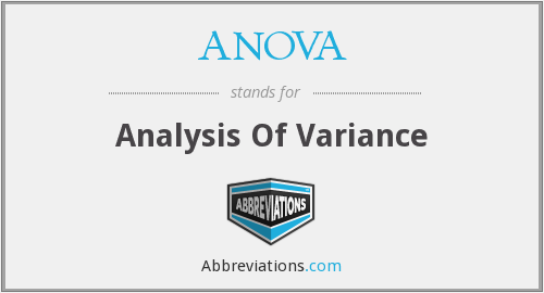 ANOVA - Analysis Of Variance