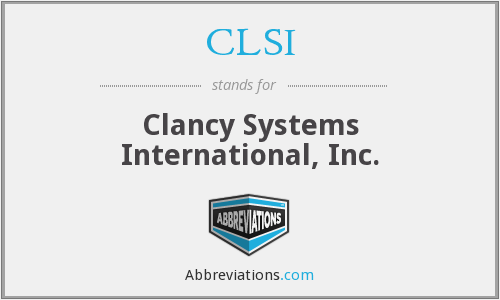CLSI - Clancy Systems International, Inc.