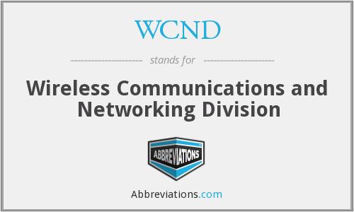 What does WCND stand for?