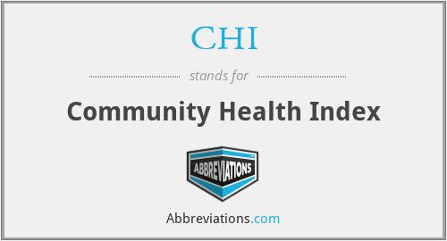 CHI - Community Health Index