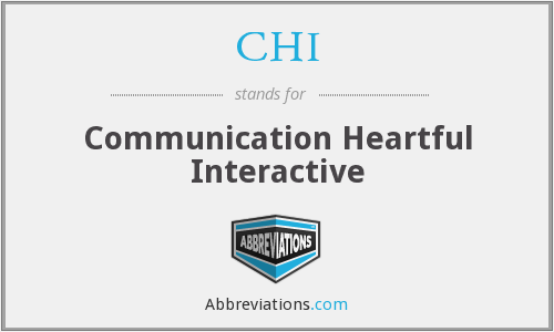 CHI - Communication Heartful Interactive