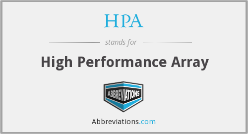 HPA - High Performance Array