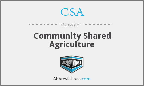 CSA - Community Shared Agriculture