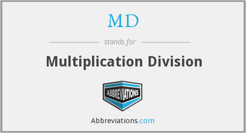 MD - Multiplication Division
