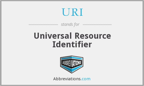 URI - Universal Resource Identifier