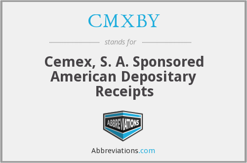 What does CMXBY stand for?