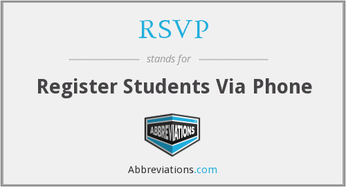 RSVP - Register Students Via Phone