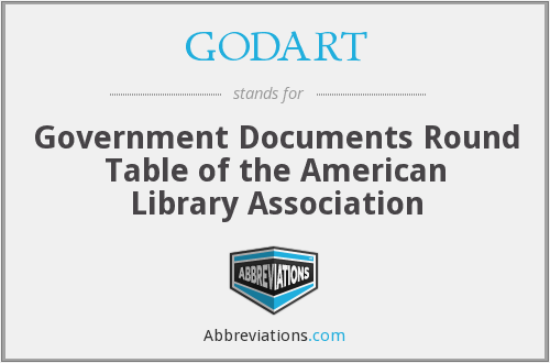 GODART - Government Documents Round Table of the American Library Association