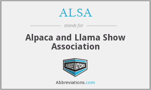 ALSA - Alpaca and Llama Show Association