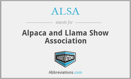 ALSA - Alpaca and Llama Show Association