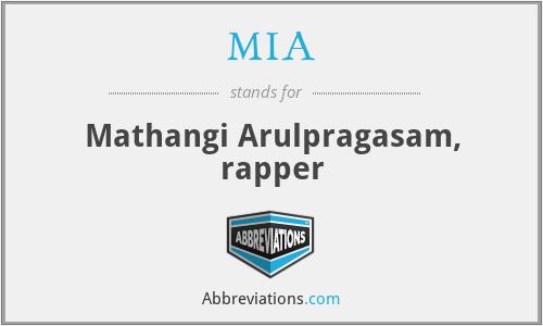 MIA - Mathangi Arulpragasam, rapper
