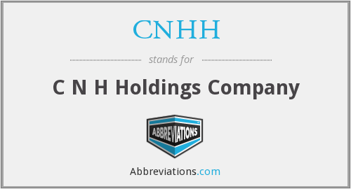 What does CNHH stand for?