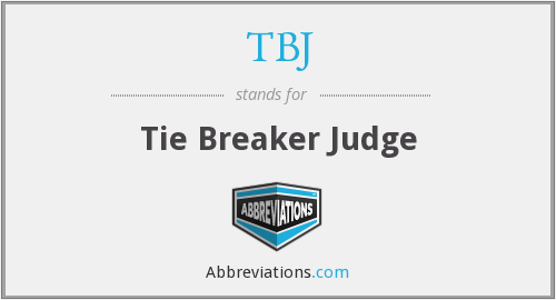 TBJ - Tie Breaker Judge