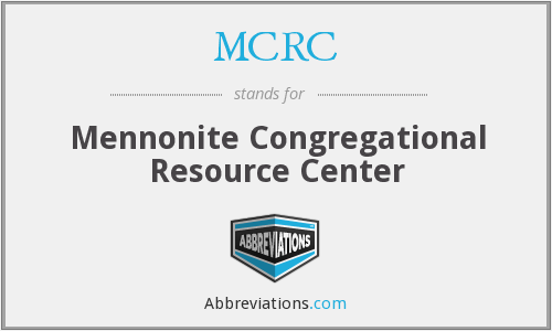 MCRC - Mennonite Congregational Resource Center