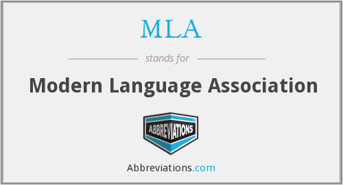 MLA - Modern Language Association