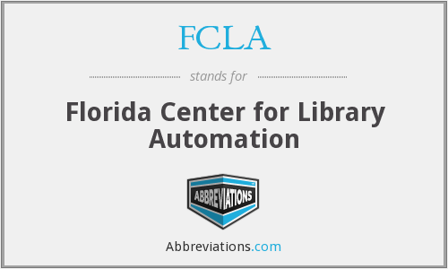 FCLA - Florida Center for Library Automation