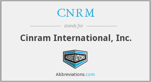 CNRM - Cinram International, Inc.