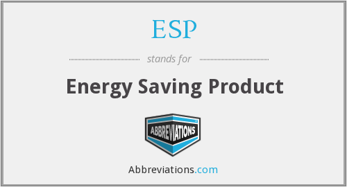 What does ESP. stand for?