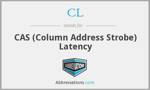 CL - CAS (Column Address Strobe) Latency