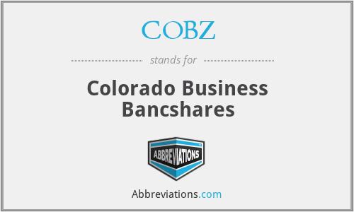 COBZ - Colorado Business Bancshares
