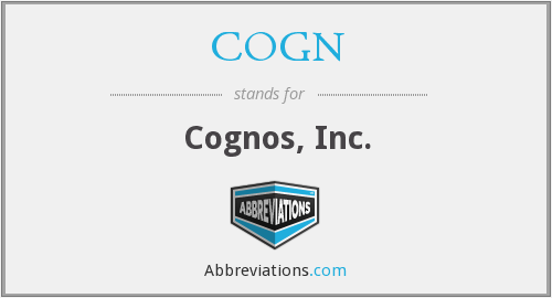 What does COGN stand for?