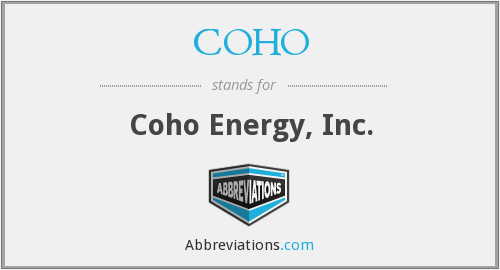 What does COHO stand for?